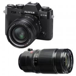 FUJIFILM X-T10 Noir + 18-55 + 50-140