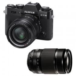 FUJIFILM X-T10 Noir + 18-55 + 55-200