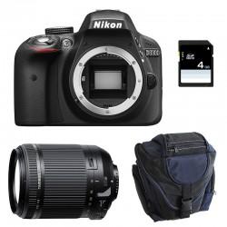NIKON D3300 + TAMRON 18-200 VC GARANTI 3 ans + Sac + SD 4Go