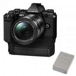 OLYMPUS OM-D E-M5 II Noir Power Kit avec 14-150 II NOIR + Grip + Batterie