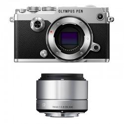 OLYMPUS PEN-F SILVER + SIGMA 19mm f/2.8 SILVER GARANTI 3 ans