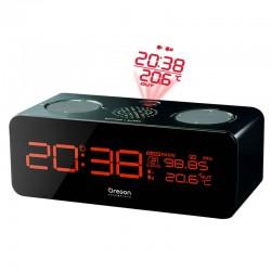 OREGON RRM320P Noir Radio réveil projecteur + Sonde T° ext