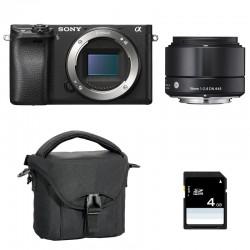 SONY ALPHA 6300 NOIR + SIGMA 19mm f/2.8 GARANTI 3 ans + Sac + SD 4 Go