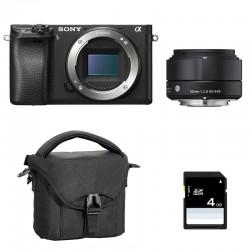 SONY ALPHA 6300 NOIR + SIGMA 30mm f/2.8 GARANTI 3 ans + Sac + SD 4 Go