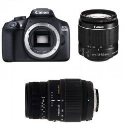 CANON EOS 1300D + 18-55 IS II + SIGMA 70-300 DG MACRO GARANTI 3 ans