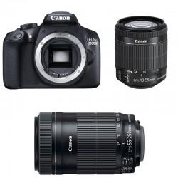 CANON EOS 1300D + 18-55 IS STM + 55-250 IS STM GARANTI 3 ans