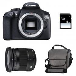 CANON EOS 1300D + SIGMA 17-70 CONTEMPORARY GARANTI 3 ans + Sac + SD 4 Go