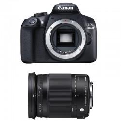 CANON EOS 1300D + SIGMA 18-300 OS Contemporary GARANTI 3 ans