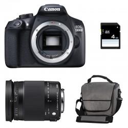 CANON EOS 1300D + SIGMA 18-300 OS Contemporary GARANTI 3 ans + Sac + Carte SD 4Go