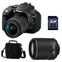 NIKON D5300 + 18-55 VR + 55-200 VR II GARANTI 3 ans + Sac + SD 4Go