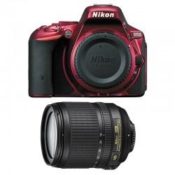 NIKON D5500 Rouge + 18-105 VR GARANTI 3 ans