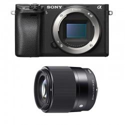 SONY ALPHA 6300 NOIR + SIGMA 30mm f/1.4 GARANTI 3 ans