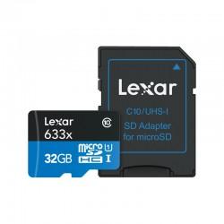 LEXAR Carte Micro-SDHC 32 Go 633x avec adaptateur / lecteur de carte