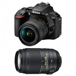NIKON D5600 + 18-55 VR + 55-300 VR GARANTI 3 ans