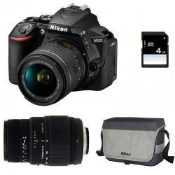 NIKON D5600 + 18-55 VR + SIGMA 70-300 DG MACRO GARANTI 3 ans + Sac + Carte SD 4Go