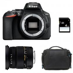 NIKON D5600 + SIGMA 17-50 DC OS HSM GARANTI 3 ans + Sac + SD 4Go