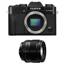 FUJIFILM X-T20 Noir + 56mm Garanti 2 ans