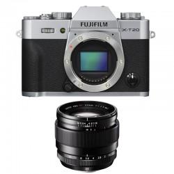FUJIFILM X-T20 SILVER + XF 23mm f/1.4 R Garanti 2 ans