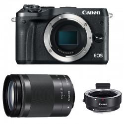 CANON EOS M6 + 18-150 Noir + Bague d'adaptation