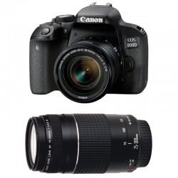 CANON EOS 800D + 18-55 IS STM + 75-300 III GARANTI 3 ans