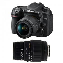 NIKON D7500 + 18-55 VR + SIGMA 70-300 DG MACRO GARANTI 3 ans