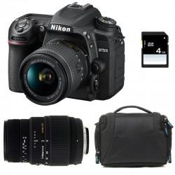 NIKON D7500 + 18-55 VR + SIGMA 70-300 DG MACRO GARANTI 3 ans + Sac + Carte SD 4Go