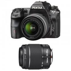 PENTAX K3 II NOIR + DAL 18-55 WR + DA 50-200 WR GARANTI 3 ans