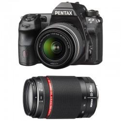 PENTAX K3 II NOIR + DAL 18-55 WR + DA 55-300 HD WR GARANTI 3 ans