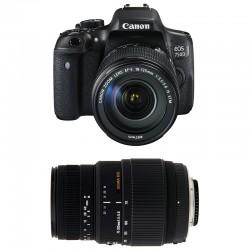 CANON EOS 750D + 18-135 IS STM + SIGMA 70-300 DG MACRO GARANTI 3 ans