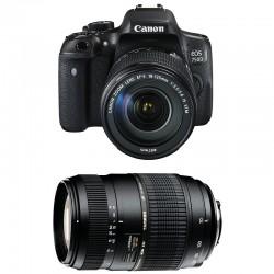 CANON EOS 750D + 18-135 IS STM + TAMRON 70-300 DI GARANTI 3 ans