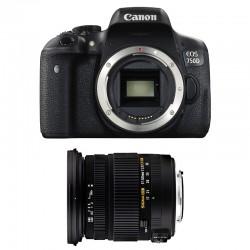 CANON EOS 750D + SIGMA 17-50 F2.8 DC OS EX HSM GARANTI 3 ans
