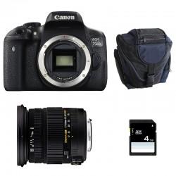 CANON EOS 750D + SIGMA 17-50 F2.8 DC OS EX HSM GARANTI 3 ans + Sac + SD 4Go