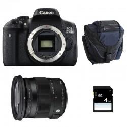 CANON EOS 750D + SIGMA 17-70 F2.8-4 Contemporary GARANTI 3 ans + Sac + SD 4Go