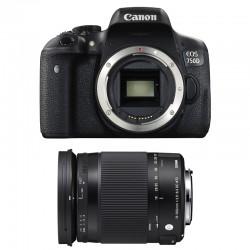CANON EOS 750D + SIGMA 18-300 OS HSM Contemporary GARANTI 3 ans