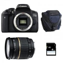 CANON EOS 750D + TAMRON SP AF 17-50 f/2.8 XR Di II LD GARANTI 3 ans + Sac + SD 4Go
