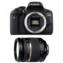CANON EOS 750D + TAMRON SP AF 17-50 f/2.8 XR Di II VC LD GARANTI 3 ans