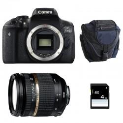 CANON EOS 750D + TAMRON SP AF 17-50 f/2.8 XR Di II VC LD GARANTI 3 ans + Sac + SD 4Go