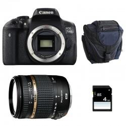 CANON EOS 750D + TAMRON AF 18-270 VC PZD GARANTI 3 ans + Sac + SD 4Go