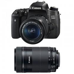 CANON EOS 760D + 18-55 IS STM + 55-250 IS STM GARANTI 3 ans