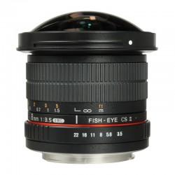 SAMYANG 8 mm f/3.5 UMC CS II FishEye PENTAX GARANTI 2 ans