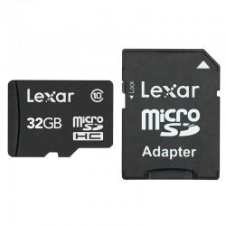 LEXAR Carte Micro-SDHC 32 Go Class 10 300X avec adaptateur / lecteur de carte
