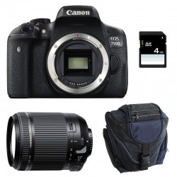 CANON EOS 750D + TAMRON 18-200 VC GARANTI 3 ans + Sac + Carte SD 4Go