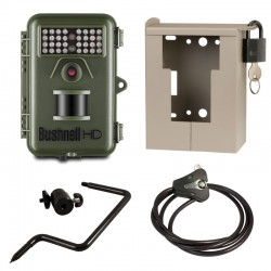 BUSHNELL TROPHY CAM Natureview 12MP Essential HD Vert (119739) + caisson (119653C) + Support (119652C) + Câble (119518C)