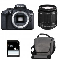 CANON EOS 1300D + 18-55 IS II GARANTI 3 ans + Sac + Carte SD 4Go