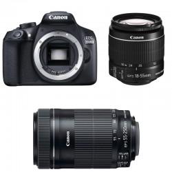 CANON EOS 1300D + 18-55 IS II + 55-250 IS STM GARANTI 3 ans