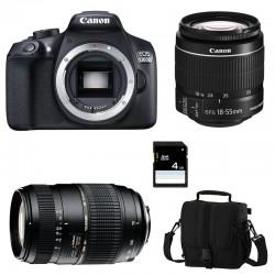 CANON EOS 1300D + 18-55 IS II + TAMRON 70-300 DI GARANTI 3 ans + Sac + Carte SD 4Go