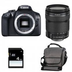 CANON EOS 1300D + 18-135 IS STM GARANTI 3 ans + Sac + Carte SD 4Go