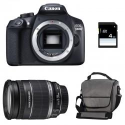 CANON EOS 1300D + 18-200 IS GARANTI 3 ans + Sac + Carte SD 4Go