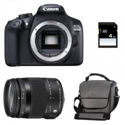 CANON EOS 1300D + SIGMA 18-200 OS Contemporary GARANTI 3 ans + Sac + Carte SD 4Go