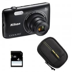 NIKON Compact Coolpix A300 NOIR + Etui + Carte SD 4 Go GARANTI 2 ans